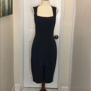 Bailey 44 gray sleeveless square neck dress
